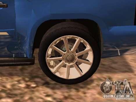 GMC Yukon Denali XL para GTA San Andreas traseira esquerda vista