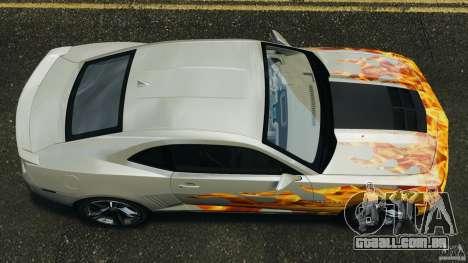 Chevrolet Camaro ZL1 2012 v1.0 Flames para GTA 4 vista direita