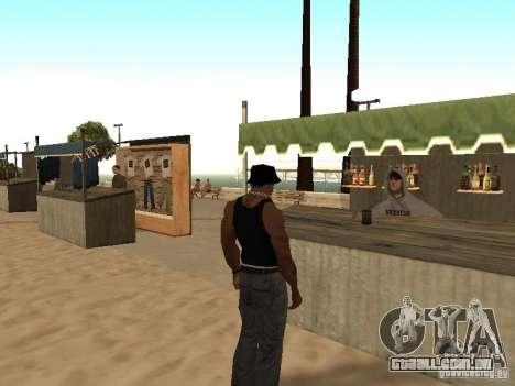 Mercado na praia para GTA San Andreas oitavo tela