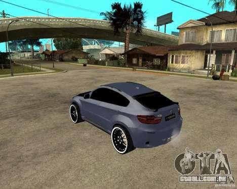 BMW X6 M HAMANN para GTA San Andreas esquerda vista