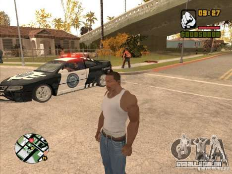 Call the Police para GTA San Andreas terceira tela