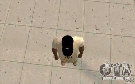 Negro de boné Umbro para GTA San Andreas terceira tela