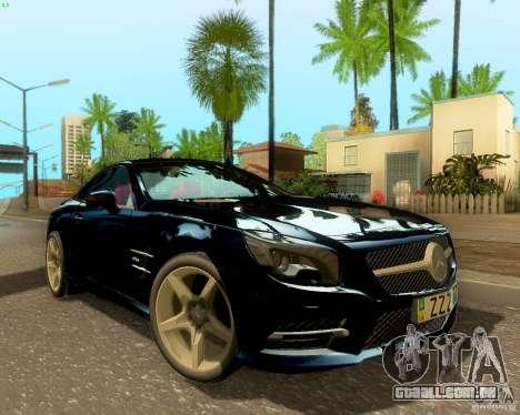 Mercedes-Benz SL350 2013 para GTA San Andreas vista traseira
