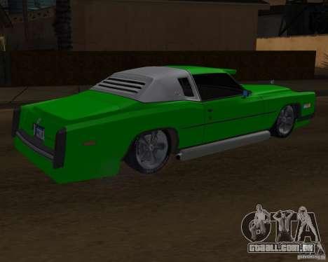 Cadillac Eldorado para GTA San Andreas vista superior