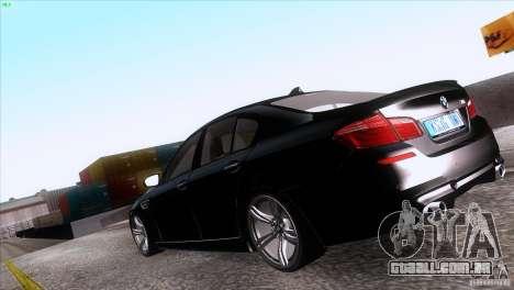 BMW M5 2012 para GTA San Andreas esquerda vista