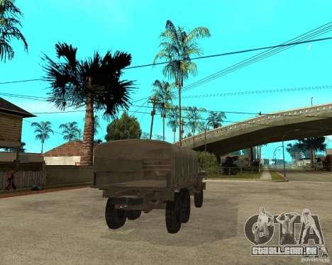 Ural-4230 para GTA San Andreas traseira esquerda vista