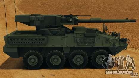 Stryker M1128 Mobile Gun System v1.0 para GTA 4 esquerda vista