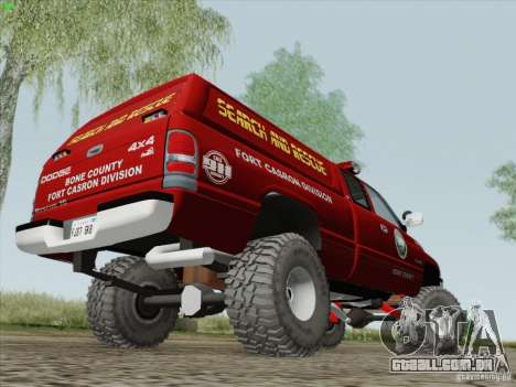 Dodge Ram 3500 Search & Rescue para GTA San Andreas vista traseira