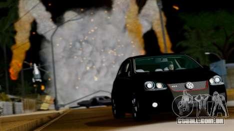 VW Golf V GTI 2006 para GTA San Andreas vista traseira