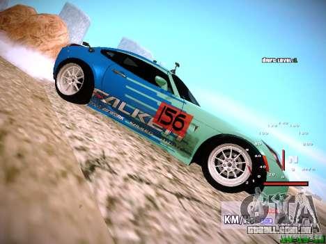 Pontiac Solstice Falken Tire para GTA San Andreas vista direita