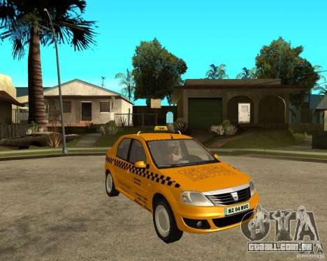 Dacia Logan Taxi Bucegi para GTA San Andreas