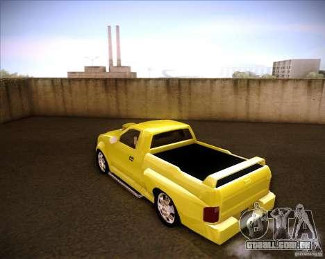 Dodge Dakota tuning para GTA San Andreas esquerda vista