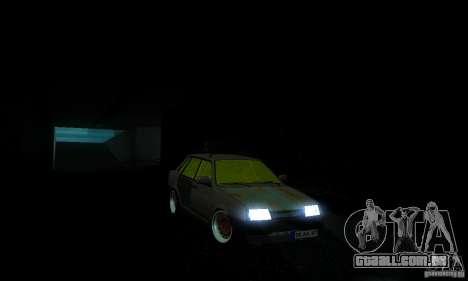Olhar de rato 21099 VAZ para GTA San Andreas traseira esquerda vista