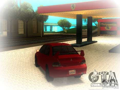 Mitsubishi Lancer Evolution IX MR 2006 para GTA San Andreas traseira esquerda vista