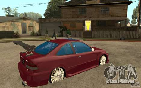 Honda Civic 1998 Tuned para GTA San Andreas vista direita