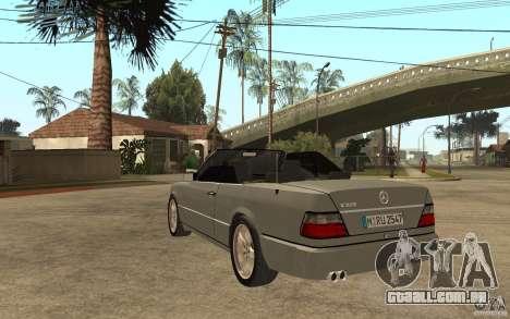 Mercedes-Benz E320 C124 Cabrio para GTA San Andreas traseira esquerda vista