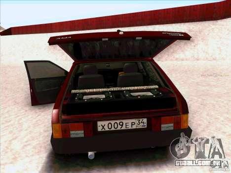 VAZ 2109 inverno para GTA San Andreas traseira esquerda vista