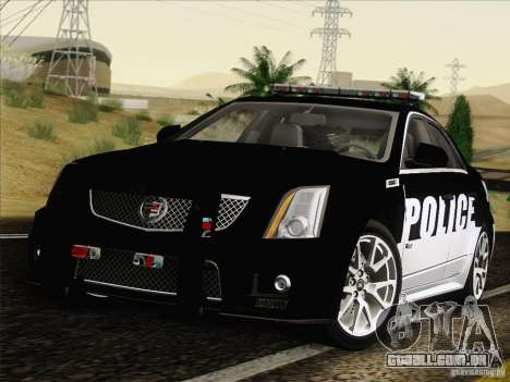 Cadillac CTS-V Police Car para GTA San Andreas traseira esquerda vista
