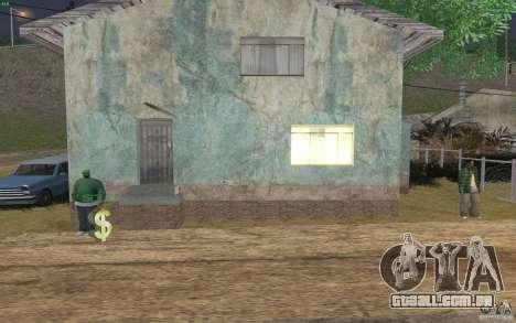 A casa de verde para GTA San Andreas quinto tela