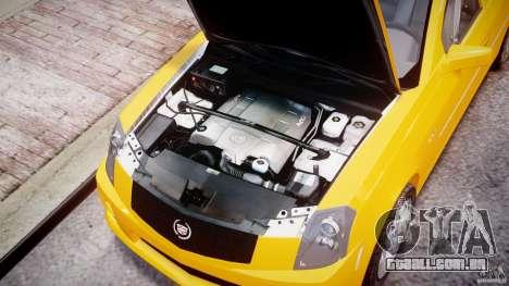 Cadillac CTS Taxi para GTA 4 vista direita