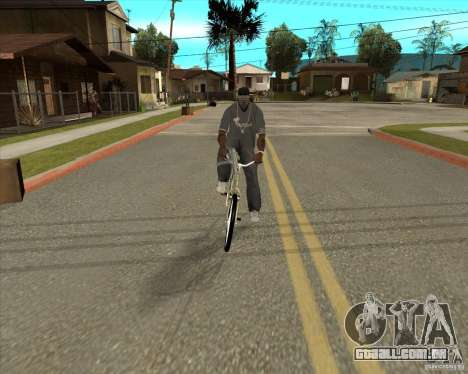Bicicleta nova para GTA San Andreas traseira esquerda vista