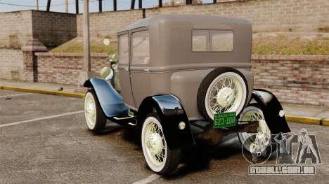 Ford Model T 1927 para GTA 4 traseira esquerda vista