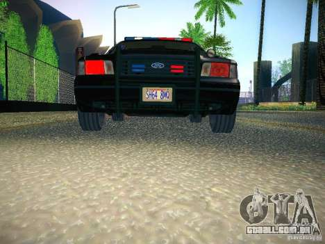 Ford Crown Victoria Police Intercopter para vista lateral GTA San Andreas