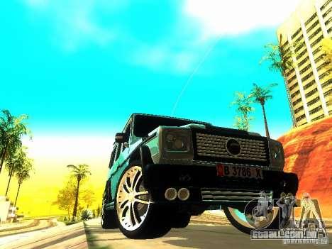 Mercedes-Benz G500 ART para GTA San Andreas vista direita