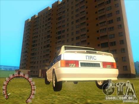 Ваз 2114 polícia russa para GTA San Andreas traseira esquerda vista