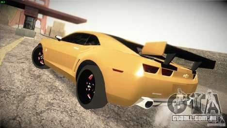 Chevrolet Camaro SS Transformers 3 para GTA San Andreas traseira esquerda vista