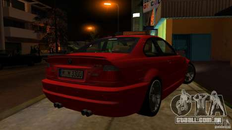 BMW M3 e46 para GTA San Andreas vista interior