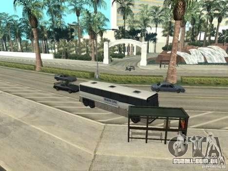Linha de ônibus em Las Venturas para GTA San Andreas nono tela