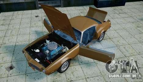 Pontiac Firebird 1970 para GTA 4 vista superior