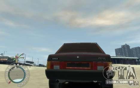 VAZ 21099 Duplet para GTA 4 vista de volta