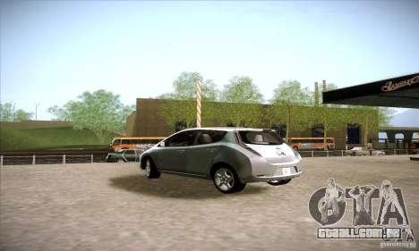 Nissan Leaf 2011 para GTA San Andreas esquerda vista