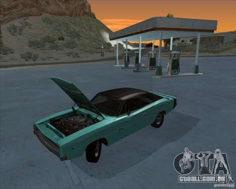 Dodge Charger RT HEMI 1968 para GTA San Andreas traseira esquerda vista