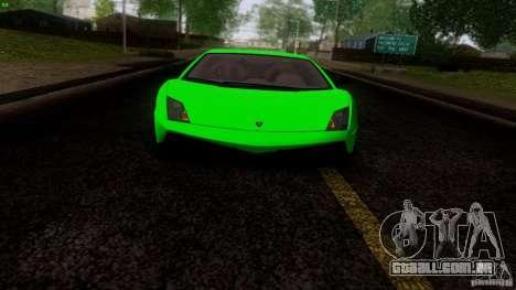 Lamborghini Gallardo LP570-4 Superleggera para GTA San Andreas vista traseira