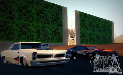 Pontiac GTO Drag Shark para GTA San Andreas vista direita