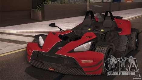 KTM-X-Bow para GTA San Andreas vista direita