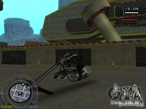 Moto de motociclista da cidade alienígena para GTA San Andreas esquerda vista