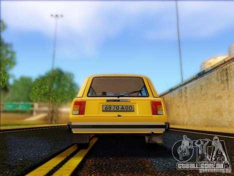 VAZ 2104 táxi para GTA San Andreas vista direita