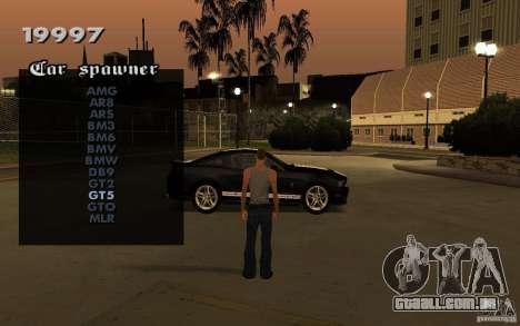 Vehicles Spawner para GTA San Andreas terceira tela