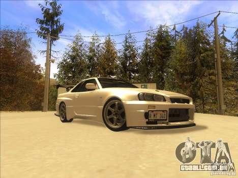 Nissan Skyline GT-R BNR34 Tunable para GTA San Andreas