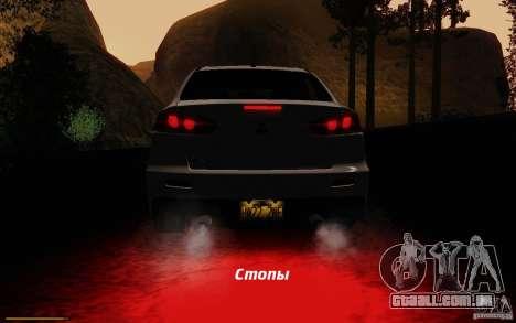 Mitsubishi Lancer Evolution X Tunable para as rodas de GTA San Andreas