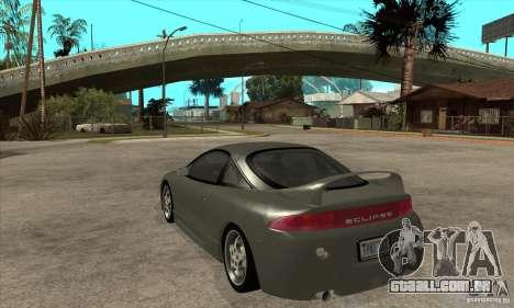 Mitsubishi Eclipse GSX - Stock para GTA San Andreas traseira esquerda vista