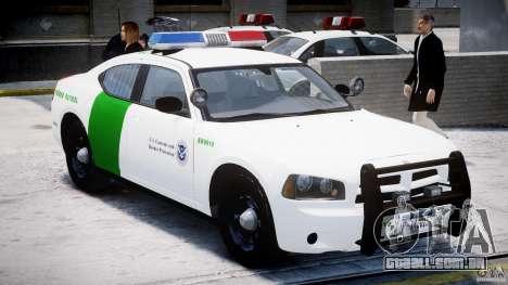 Dodge Charger US Border Patrol CHGR-V2.1M [ELS] para GTA 4 esquerda vista