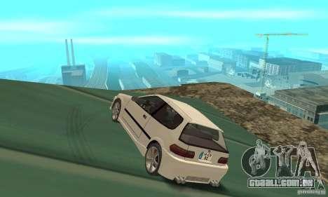 Honda Civic SiR II Tuning para GTA San Andreas traseira esquerda vista