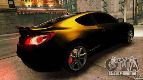 Hyundai Genesis Coupe 2010 para GTA 4 esquerda vista