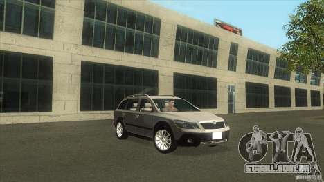 Skoda Octavia Scout para GTA San Andreas vista direita