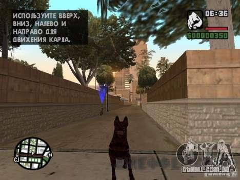 Cerberus de Resident Evil 2 para GTA San Andreas segunda tela